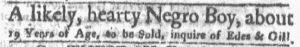 Nov 19 1770 - Boston-Gazette Slavery 2