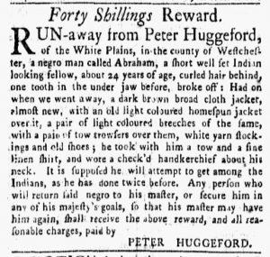 Nov 19 1770 - New-York Gazette and Weekly Mercury Slavery 1