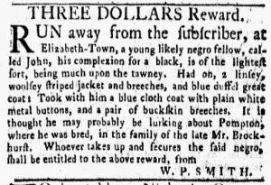 Nov 19 1770 - New-York Gazette and Weekly Mercury Slavery 2