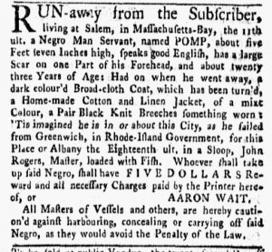 Nov 19 1770 - New-York Gazette and Weekly Mercury Slavery 3