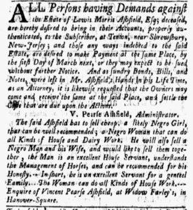 Nov 19 1770 - New-York Gazette and Weekly Mercury Slavery 4
