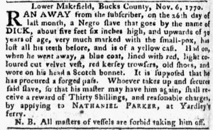 Nov 19 1770 - Pennsylvania Chronicle Slavery 1