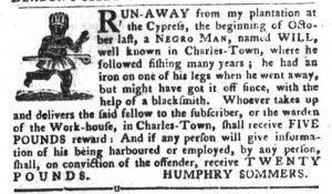 Nov 20 1770 - South-Carolina Gazette and Country Journal Slavery 6