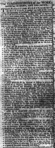 Nov 20 1770 - South-Carolina Gazette and Country Journal Supplement Slavery 1