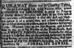 Nov 20 1770 - South-Carolina Gazette and Country Journal Supplement Slavery 2
