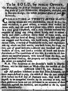 Nov 20 1770 - South-Carolina Gazette and Country Journal Supplement Slavery 3