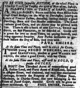 Nov 20 1770 - South-Carolina Gazette and Country Journal Supplement Slavery 4