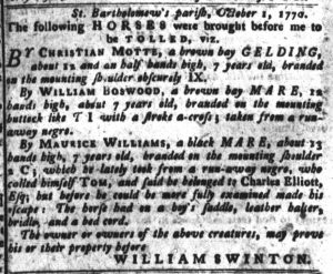 Nov 20 1770 - South-Carolina Gazette and Country Journal Supplement Slavery 5