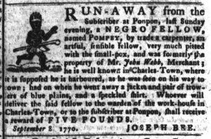 Nov 20 1770 - South-Carolina Gazette and Country Journal Supplement Slavery 6