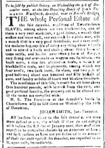 Nov 20 1770 - South-Carolina and American General Gazette Slavery 10