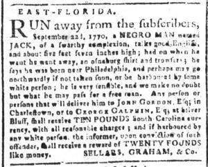 Nov 20 1770 - South-Carolina and American General Gazette Slavery 11