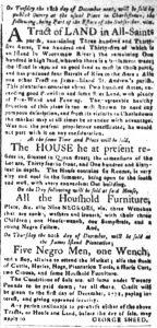 Nov 20 1770 - South-Carolina and American General Gazette Slavery 2