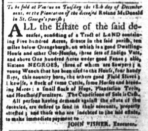 Nov 20 1770 - South-Carolina and American General Gazette Slavery 3