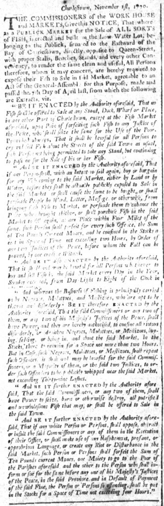 Nov 20 1770 - South-Carolina and American General Gazette Slavery 7