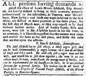 Nov 22 1770 - New-York Journal Slavery 2