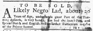 Nov 22 1770 - New-York Journal Slavery 4