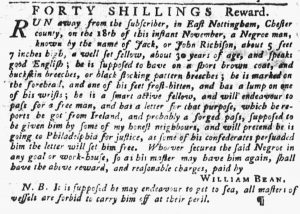Nov 22 1770 - Pennsylvania Gazette Slavery 2