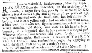 Nov 22 1770 - Pennsylvania Journal Slavery 2