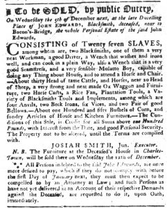 Nov 22 1770 - South-Carolina Gazette Slavery 5