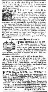 Nov 22 1770 - South-Carolina Gazette Slavery 6