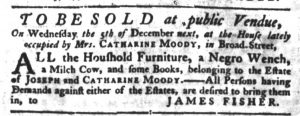 Nov 22 1770 - South-Carolina Gazette Slavery 7