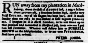 Nov 22 1770 - Virginia Gazette Purdie & Dixon Slavery 3