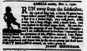 Nov 22 1770 - Virginia Gazette Purdie & Dixon Slavery 4