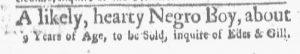 Nov 26 1770 - Boston-Gazette Slavery 3