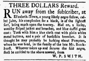 Nov 26 1770 - New-York Gazette and Weekly Mercury Slavery 1