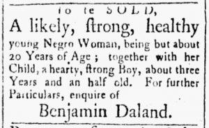 Nov 27 1770 - Essex Gazette Slavery 1