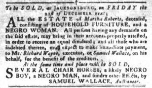 Nov 27 1770 - South-Carolina Gazette and Country Journal Slavery 2