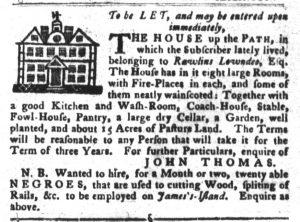 Nov 27 1770 - South-Carolina Gazette and Country Journal Slavery 3