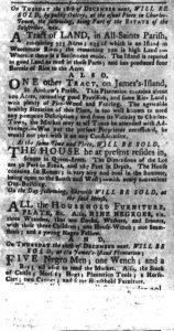 Nov 27 1770 - South-Carolina Gazette and Country Journal Slavery 4