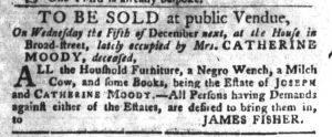 Nov 27 1770 - South-Carolina Gazette and Country Journal Slavery 7