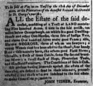 Nov 27 1770 - South-Carolina and American General Gazette Slavery 4