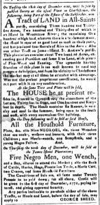 Nov 27 1770 - South-Carolina and American General Gazette Slavery 5