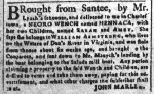 Nov 27 1770 - South-Carolina and American General Gazette Slavery 7
