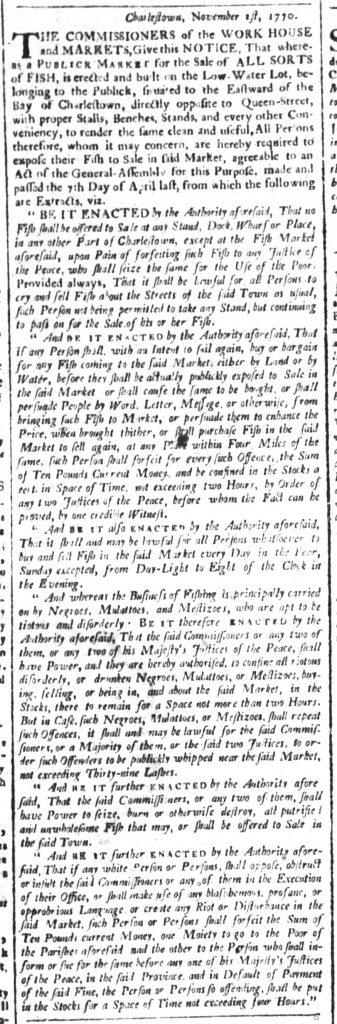 Nov 27 1770 - South-Carolina and American General Gazette Slavery 8