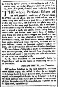 Nov 27 1770 - South-Carolina and American General Gazette Slavery 9