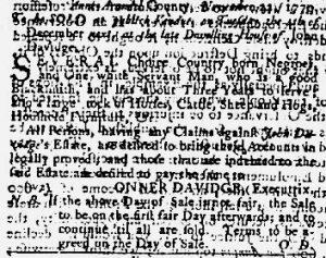 Nov 29 1770 - Maryland Gazette Supplement Slavery 1