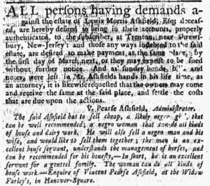 Nov 29 1770 - New-York Journal Slavery 2