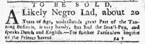 Nov 29 1770 - New-York Journal Slavery 5
