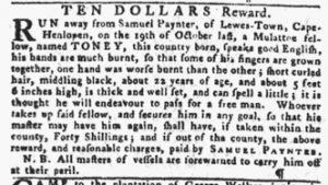 Nov 29 1770 - Pennsylvania Gazette Slavery 2
