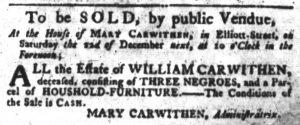 Nov 29 1770 - South-Carolina Gazette Slavery 4
