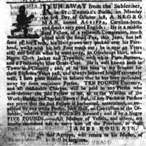Nov 29 1770 - South-Carolina Gazette Slavery 5