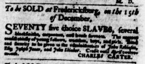 Nov 29 1770 - Virginia Gazette Purdie & Dixon Slavery 1