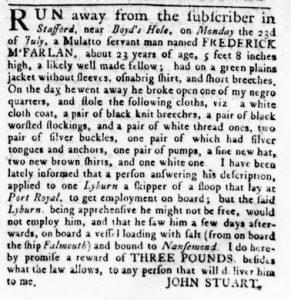 Nov 29 1770 - Virginia Gazette Rind Slavery 3