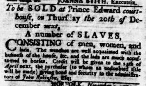 Nov 29 1770 - Virginia Gazette Rind Slavery 5