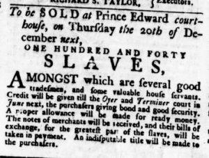 Nov 29 1770 - Virginia Gazette Rind Slavery 8