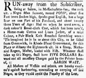 Nov 5 1770 - New-York Gazette and Weekly Mercury Slavery 1
